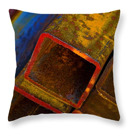 Abstract Throw Pillow featuring the photograph The River by Skip Hunt