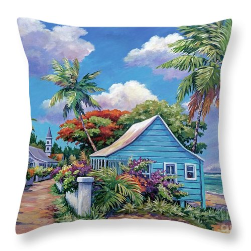 Art Throw Pillow featuring the painting The Road Less Travelled by John Clark