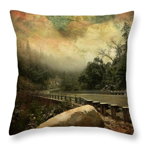 California Throw Pillow featuring the photograph The Road To Everywhere by Leah Moore
