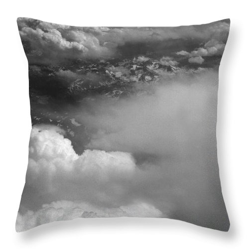 Aerial Photography Throw Pillow featuring the photograph The Rockies by Richard Rizzo