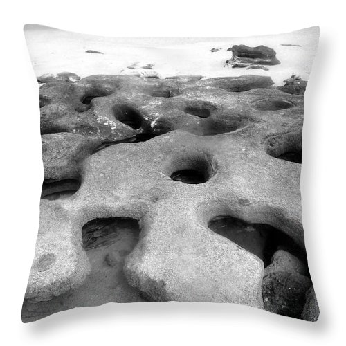 Florida Throw Pillow featuring the photograph The Rocks by David Lee Thompson