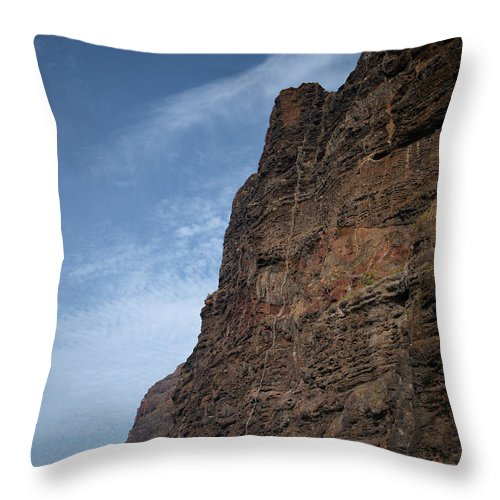 Valasretki Throw Pillow featuring the photograph The Rocks Of Los Gigantes 2 by Jouko Lehto