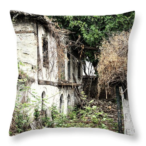 Cd Cover Throw Pillow featuring the photograph The Ruined Cottage by Roy Pedersen