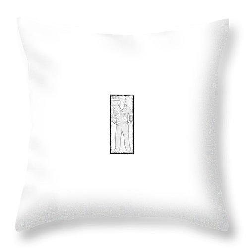 Sailor Throw Pillow featuring the digital art The Sailor by Fayedra Oharra