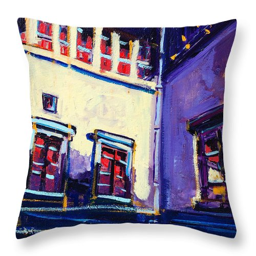 School Throw Pillow featuring the painting The School by Kurt Hausmann