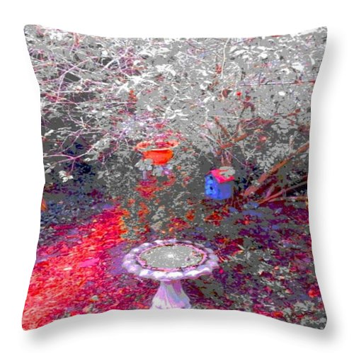 Square Throw Pillow featuring the digital art The Scrying Basin by Eikoni Images