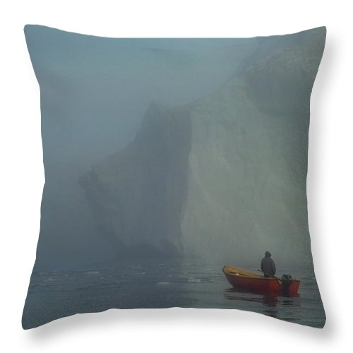 Sealhunter Throw Pillow featuring the photograph The Sealhunter by Robert Lacy