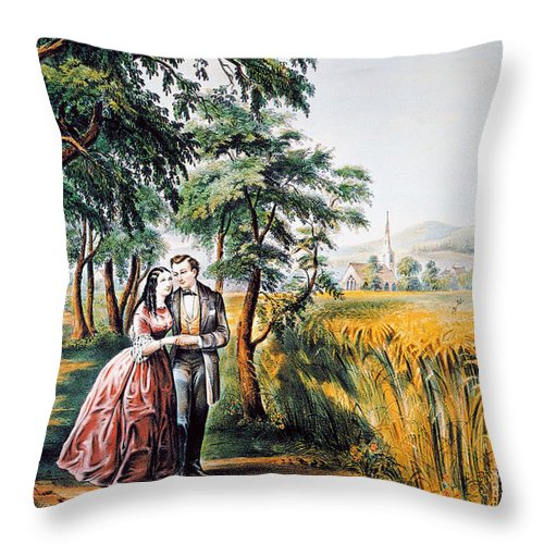 1868 Throw Pillow featuring the photograph The Season Of Love by Granger