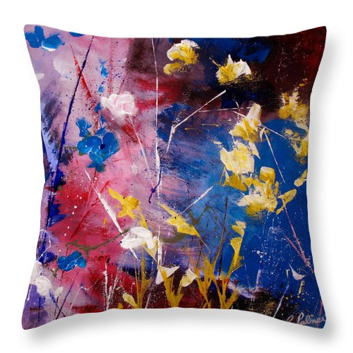 Acrylic Throw Pillow featuring the painting The Season Of Singing Has Come by Ruth Palmer