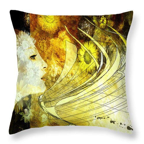Woman Throw Pillow featuring the painting The Second Dream by Van Renselar