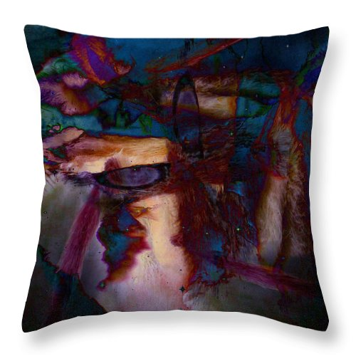 Abstract Digital Art Throw Pillow featuring the photograph The Seeker by Linda Murphy