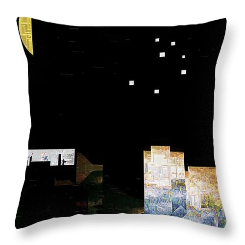 City Throw Pillow featuring the painting The Seven Sisters by RC DeWinter