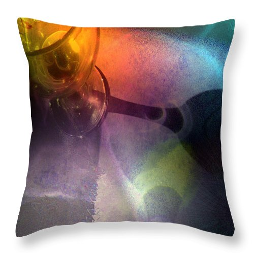 Fantasy Throw Pillow featuring the painting The Shadow Of Your Smile by Miki De Goodaboom