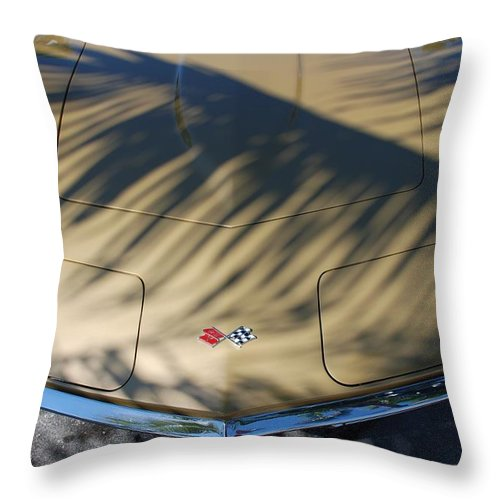Corvette Throw Pillow featuring the photograph The Shadow Vette by Rob Hans