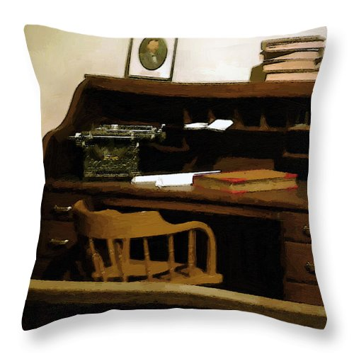 Antiques Throw Pillow featuring the digital art The Sheriff Is Out by RC DeWinter