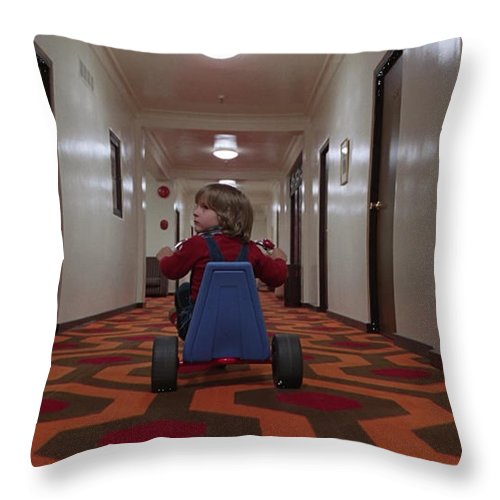 The Shining Throw Pillow featuring the digital art The Shining by Zia Low