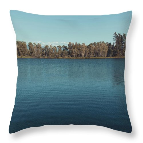 Landscape Throw Pillow featuring the photograph The Shore Of Flathead River by Isaac Passwater
