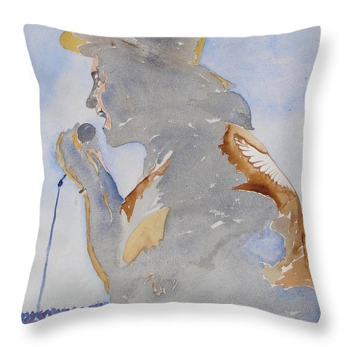Dublin Throw Pillow featuring the painting The Singer by Roger Cummiskey