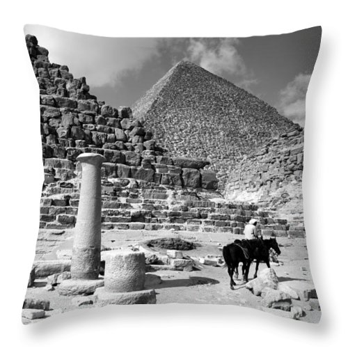 single Column Throw Pillow featuring the photograph The Single Column by Donna Corless