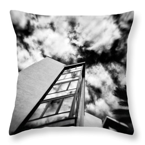 Black And White Throw Pillow featuring the photograph The Sky's The Limit by Silvia Ganora
