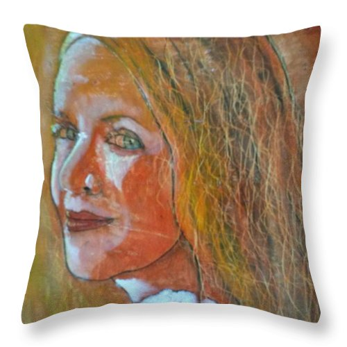 I Say Funny Things To Make Her Smile I Hand Her A Flower And She Says  I Love The Smallest Things. Throw Pillow featuring the painting The Smallest Thing by J Bauer