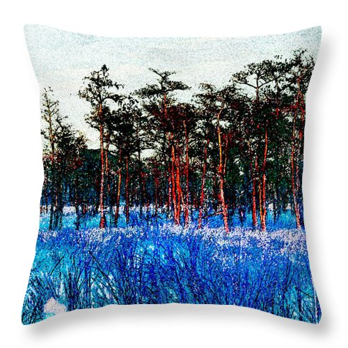 Art Throw Pillow featuring the painting The Snow King 1899 by David Lee Thompson