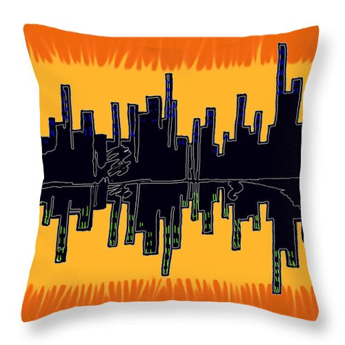 Se-metric Throw Pillow featuring the digital art The Snowman by Christopher Rowlands