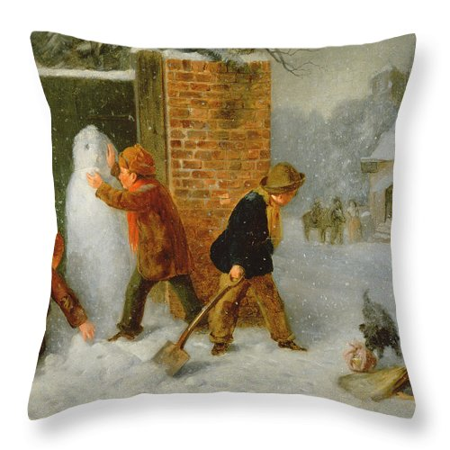 The Snowman Throw Pillow For Sale By Edward Charles Barnes