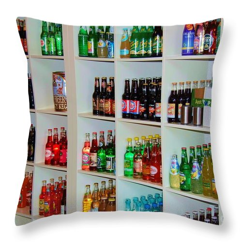 Soda Throw Pillow featuring the photograph The Soda Gallery by Debbi Granruth