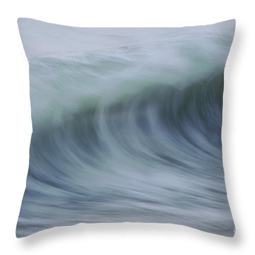 Waves Throw Pillow featuring the photograph The Softness Of Being A Wave by Jeanne McGee