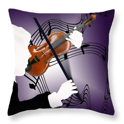 Violin Throw Pillow featuring the digital art The Soloist by Steve Karol