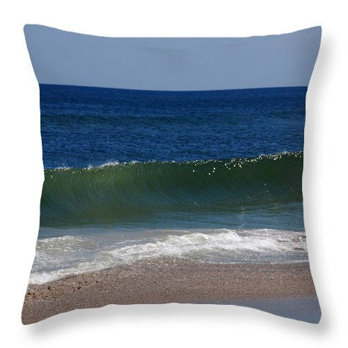 Waves Throw Pillow featuring the photograph The Song Of The Ocean by Susanne Van Hulst