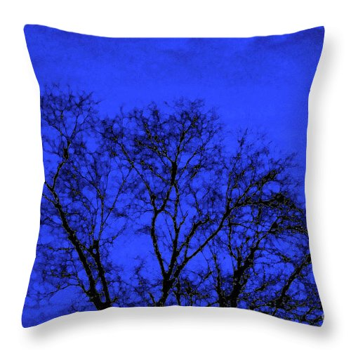 Tree Throw Pillow featuring the photograph The Sparkle Tree by Andee Design