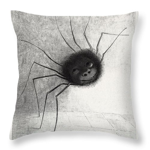 The Spider Throw Pillow For Sale By Odilon Redon
