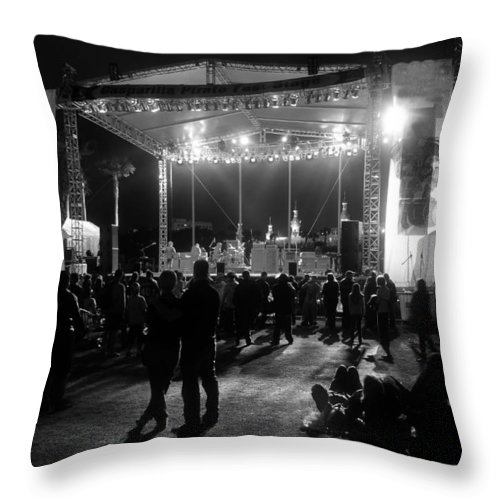 Music Throw Pillow featuring the photograph The Stage by David Lee Thompson