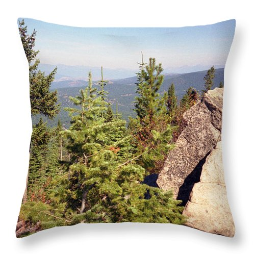Landscapes Throw Pillow featuring the photograph The Star Gazer by Richard Rizzo