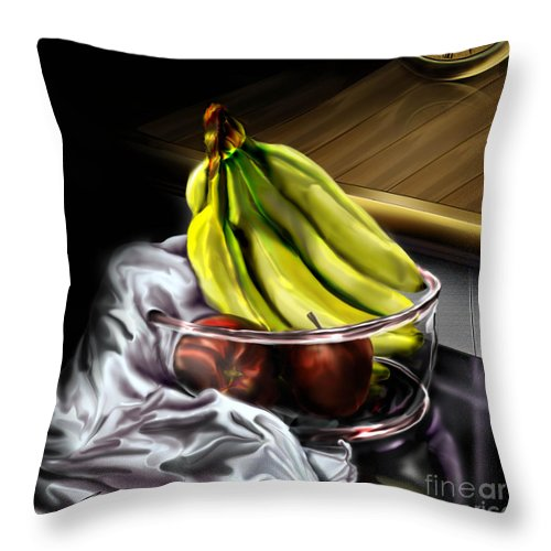 Still Life Painting Throw Pillow featuring the painting The Still Of Peace by Reggie Duffie