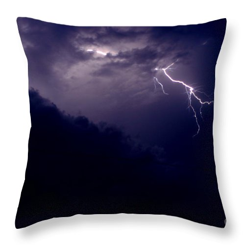 Sky Throw Pillow featuring the photograph The Storm 1.3 by Joseph A Langley