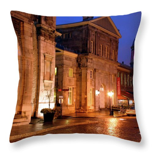 Montreal Throw Pillow featuring the photograph The Streets Of Montreal by Scott Mahon