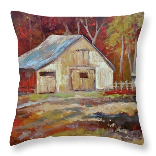 Barns Throw Pillow featuring the painting The Studio by Ginger Concepcion