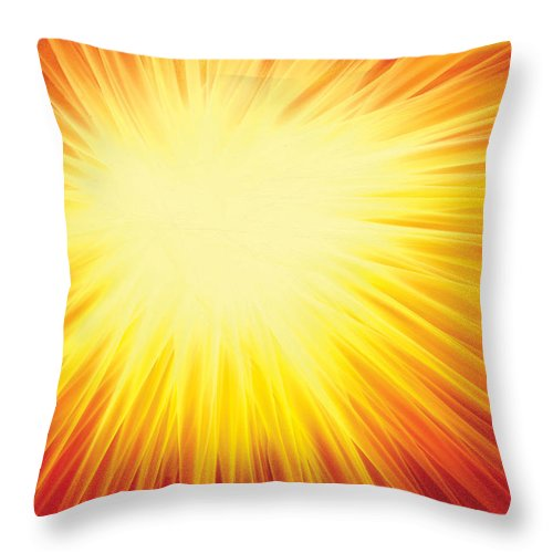 Solar System Throw Pillow featuring the digital art The Sun by Rabi Khan
