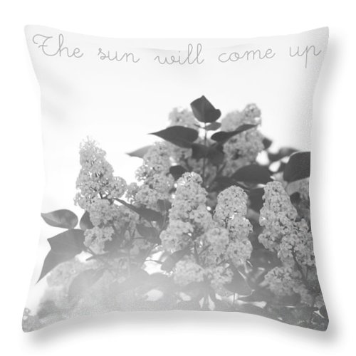 Floral Throw Pillow featuring the photograph The Sun Will Come Up Again by Cody Hoffman