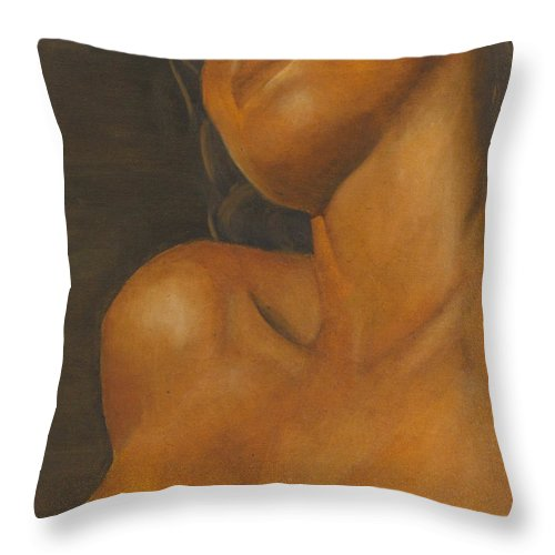 Woman Throw Pillow featuring the painting The Sun Will Set For You by Dana DiPasquale