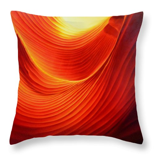 Antelope Canyon Throw Pillow featuring the painting The Swirl by Anni Adkins