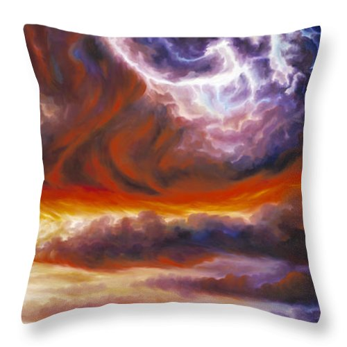 Tempest Throw Pillow featuring the painting The Tempest by James Christopher Hill