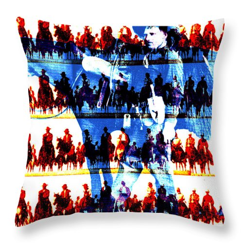 Cowboys Throw Pillow featuring the digital art The Tenderfoot by Seth Weaver