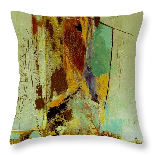Abstract Throw Pillow featuring the painting The Testimony by Ruth Palmer