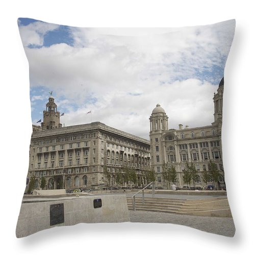 Architecture Throw Pillow featuring the photograph The Three Graces by Christopher Rowlands