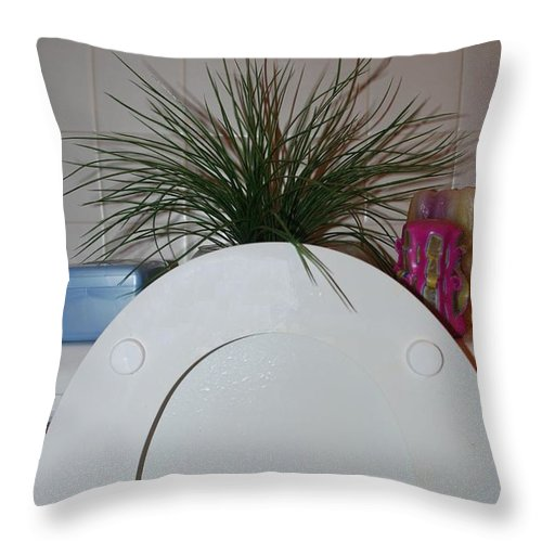 Toilet Throw Pillow featuring the photograph The Throne by Rob Hans