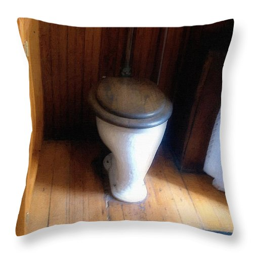 Antique Throw Pillow featuring the painting The Throne Room by RC DeWinter